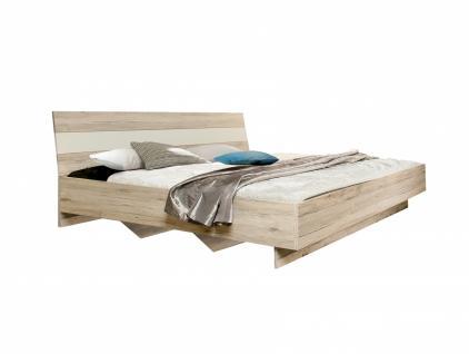 Doppelbett in Sandeiche Weiß Janette 180x200