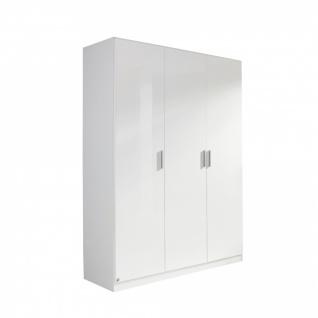Drehtürenschrank CELLE weiß / alpinweiß 136 x 210 x 54 cm