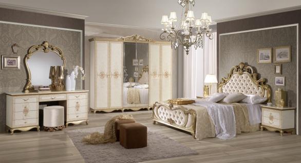 Schlafzimmer Beige Tessa mit 4-türigem Schrank