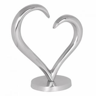 Design Deko Herz Amour aus Aluminium Skulptur Farbe Silber