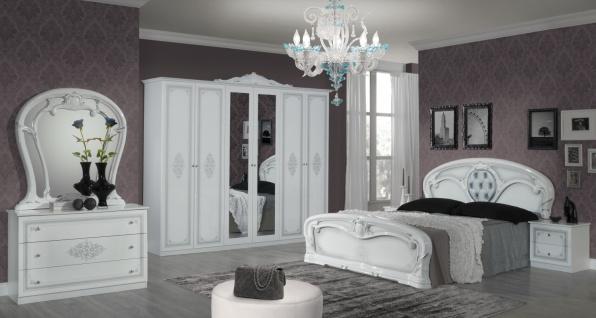 Barock Schlafzimmer Weiss Cristal Mit 6 Turigem Schrank Kaufen Bei