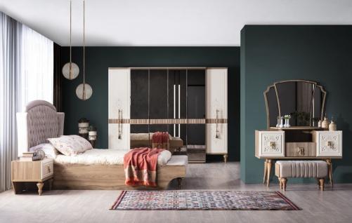 Weltew Schlafzimmer Beyoglu 6-teilig Bett 160x200 cm - Vorschau 1
