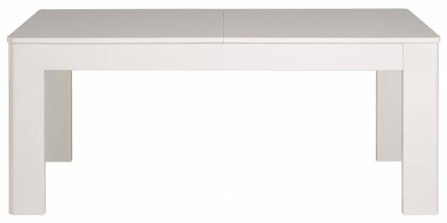 Esstisch Weiß Cesar in Hochglanz -ausziehbar