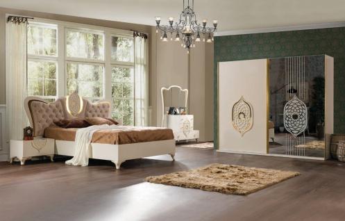 Weltew Schlafzimmer Set 160x200 Tugra Creme Gold