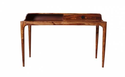 Schreibtisch Massivholz Akazie Mid Century