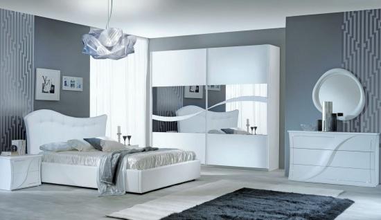 Schlafzimmer Set Mabel 160x190 in Weiß