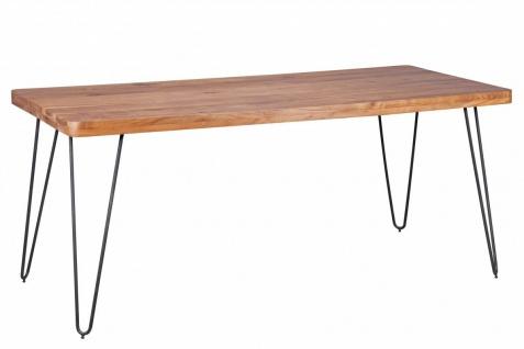Massivholz Akazie Esstisch 180x80x76 Küchentisch