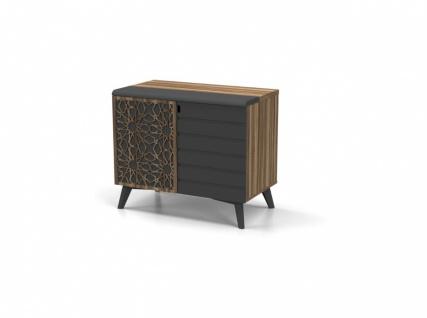 Design Büroschrank Lazer Holz Optik 2-türig