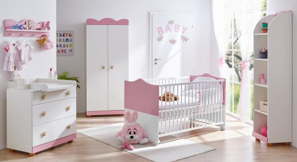 babyzimmer weiss rosa online bestellen bei yatego. Black Bedroom Furniture Sets. Home Design Ideas
