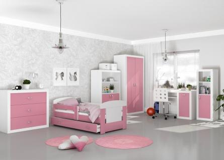 Jugendzimmer Set Phil in Rosa Weiß
