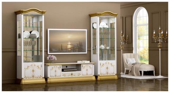 Wohnkombination Barock Stil Julianna 3-teilig Gold