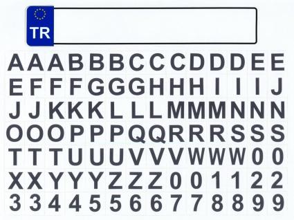 Kfz Kennzeichen mit Buchstaben Türkei