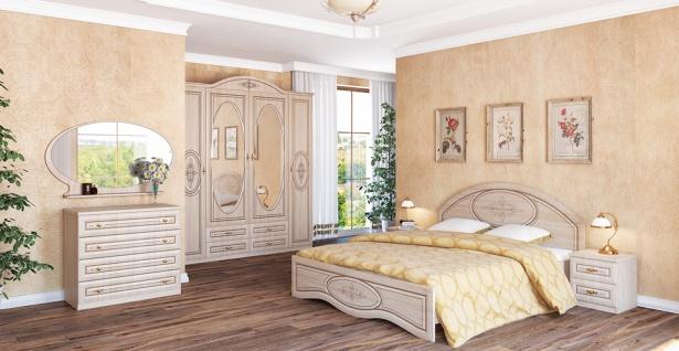 Schlafzimmer Set in Eiche gebleicht Vasilica 6-teilig