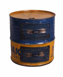 Ölfaß Beistellisch Panum 60x60 mit 2 Schubladen