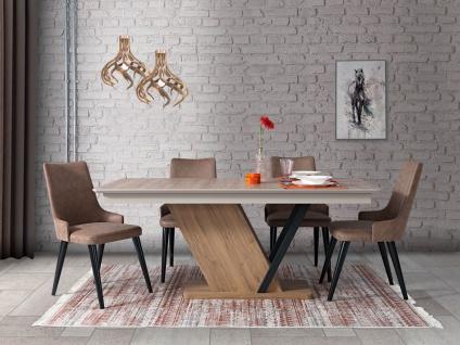 Esszimmer Tischgruppe Alanza mit 4er Set Stühlen