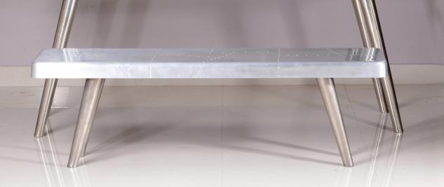 Sitzbank Uptown 140x40 mit Aluminium in Silber