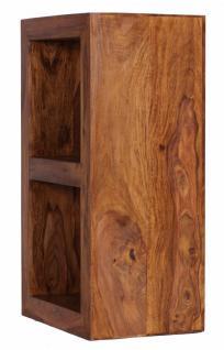 Sheesham Standregal Massiv 88 cm mit 2 Böden Massivholz - Vorschau 2