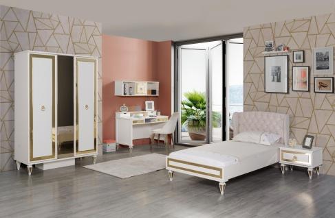 Design Jugendzimner Art Deco mit golfarbenen Details 5-teilig