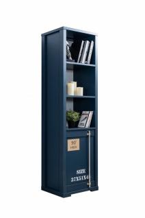 Odacix Bücherregal Container mit Tür in Blau