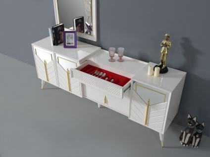 Lidya komplettes Esszimmer Piramit Tischgruppe Weiß - Vorschau 2