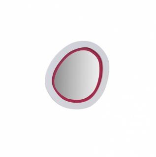 Almila Wandspiegel Sweety rund in Weiß Pink