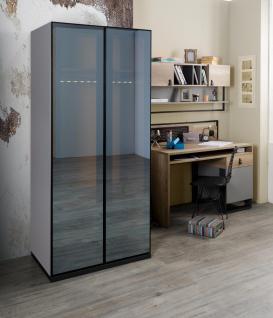 Kleiderschrank Corner mit LED Kleiderstange 2-türig