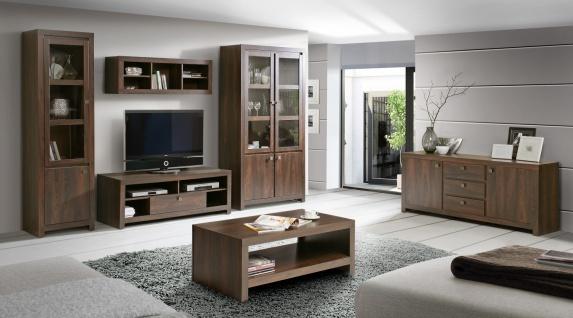 Wohnzimmer komplett Roberta 6-tlg in Eiche Durance