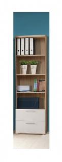 Bücherregal in Sandeiche Weiß Jesper