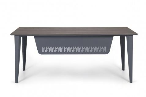 Ovali Schreibtisch 4-beinig Iconlux Grau 200x80x75