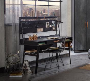 Cilek Dark Metal Schreibtisch mit Aufsatz 134x63