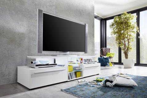 TV-Unterschrank Leroy in Weiß Hochglanz