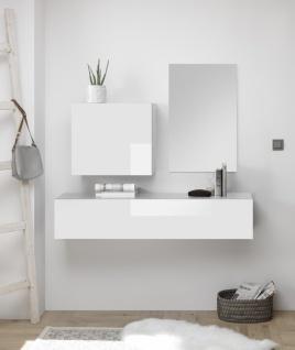 Garderoben Kombi Veldig 3-teilig Weiß Lack