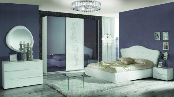 Italien Schlafzimmer Set in Weiß Valeria 4-teilig