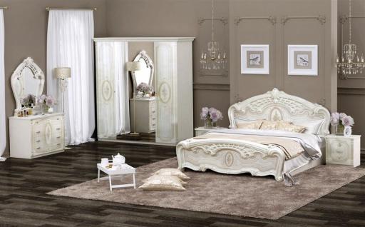 Schlafzimmer-Set Elena 6-teilig in beige Glanz