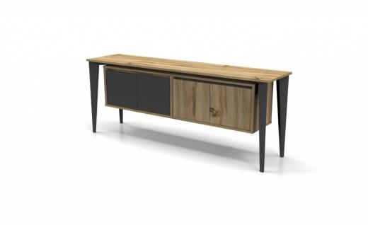 Büroschrank Holz Optik hell Icono Plus 4-türig