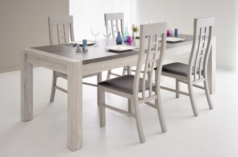 Parisot Malone Tischgruppe 5-teiliges Set in Grau