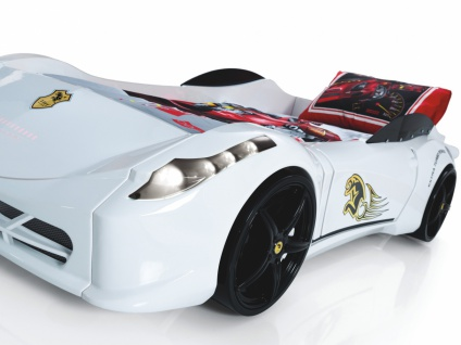 Autobett Titi in Weiß mit LED Beleuchtung und Sound