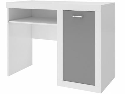 Schreibtisch für Kinder Phil Grau Weiß