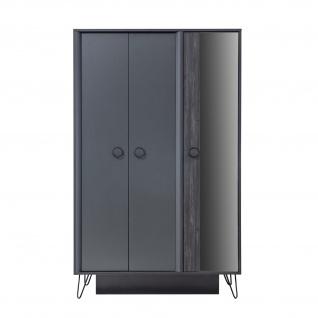Odacix Kleiderschrank Black 3-türig mit Spiegel