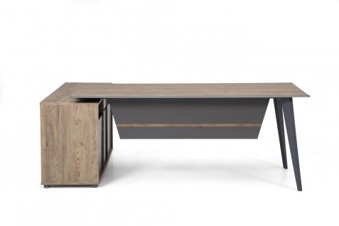 Ovali Design Bürotisch 2-teilig Ecoplus L2 180x80 cm