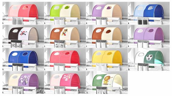 Tunnel für Hochbetten verschiedene Farben