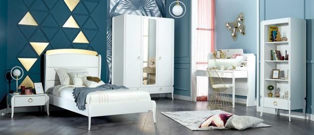 Design Jugendzimmer Elegant White 5-teilig
