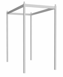 Almila Himmelaufsatz Lory für Einzelbett 120x200 Weiß