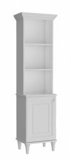 Almila Bücherregal Lory mit Tür in Weiß