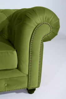 Sofa 2, 5-Sitz Orleans Samtvelours, oliv