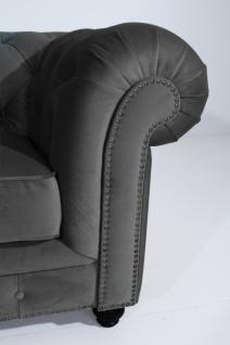 Sofa 2, 5-Sitz Orleans Samtvelours, anthrazit