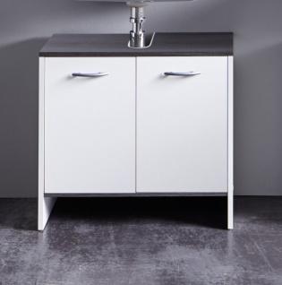 Waschbeckenunterschrank Biagio mit 2 Türen in Weiß