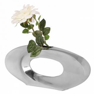 Deko Vase Ohio L aus Aluminium Blumenvase in silber