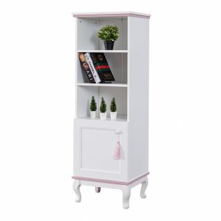 Odacix Bücherregal Lilyum mit Tür in Weiß Rosa