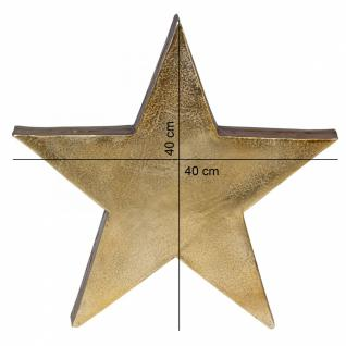 Deko Stern Tischdekoration Stars aus Aluminium Farbe Gold